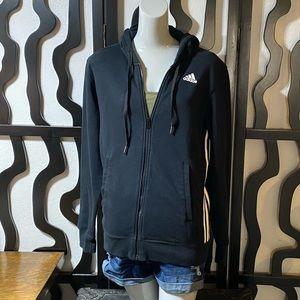 Adidas Climalite Black Zip Up Hoodie